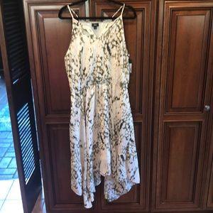 NWT Asymmetrical White Midi Dress Size L